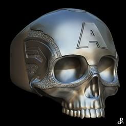 Descargar archivos STL Anillo Capitán America, Daniel_Rodas