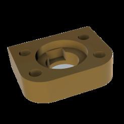 Support V6.png Télécharger fichier STL Monture Anycubic Chiron E3D V6 • Modèle à imprimer en 3D, Spelth