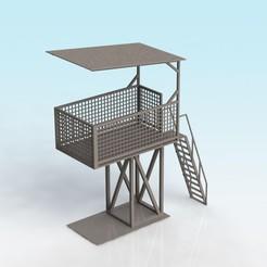 MARSHAL TOWER_GREY.JPG Télécharger fichier STL gratuit Tour maréchale à l'échelle 1:32 • Modèle imprimable en 3D, Shane54