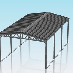Descargar archivo 3D gratis Una cochera con techo inclinado a escala 1:32, Shane54
