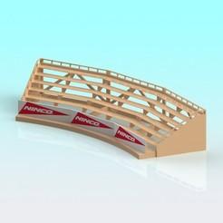 Download 3D printer model 1:32 scale Ninco slot car curved grandstand, Shane54