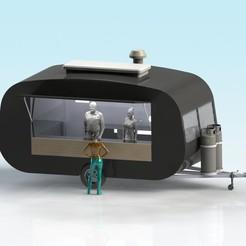 VINTAGE_FOOD_VAN-1.JPG Télécharger fichier STL gratuit Caravane alimentaire à l'échelle 1:32 • Plan à imprimer en 3D, Shane54