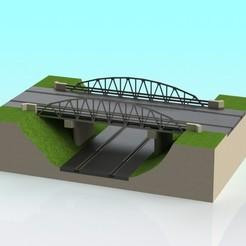 Download free 3D print files 1:32 scale slot car truss bridge V-1, Shane54