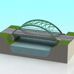 Descargar modelos 3D gratis Coche de tragaperras a escala 1:32 Puente colgante Truss Arch, Shane54