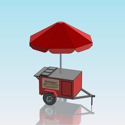 Télécharger fichier impression 3D gratuit Stand de hot-dogs à l'échelle 1:32, Shane54