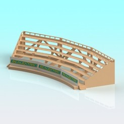 Download 3D printer designs 1:32 scale Scalextric slot car curved grandstand, Shane54
