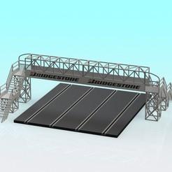 Descargar modelo 3D gratis Puente a pie de coche de 4 carriles con ranura 1:32, Shane54