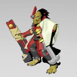 Cannibal_Chicken_Leader.png Download free STL file Cannibal Chickens Leader • 3D printable template, MaksimV13
