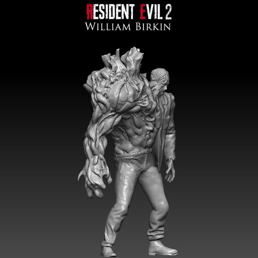 Download Stl Files Resident Evil 2 William Birkin 3d Print Model