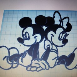 Download STL file mickey & minnie • Model to 3D print, momo57350