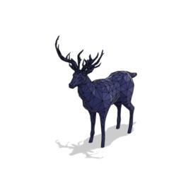 3.png Download STL file low poly deer • 3D print template, momo57350