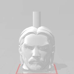 j.png Download free STL file John Wick Mouthpiece • Model to 3D print, Pistacho