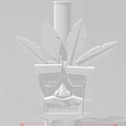 ak.png Download free STL file Aku Aku Mouthpiece • 3D print design, Pistacho