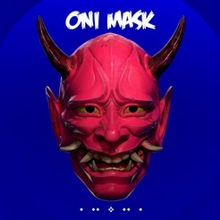 Japan_Oni_Mask_Design.jpg Download OBJ file Japan Oni Mask Cosplay 3D print • 3D printing design, 3DEasyModel
