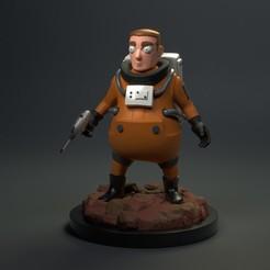 Download 3D printing designs Cute Astronaut Firgure 3D Print Model, phunguyen