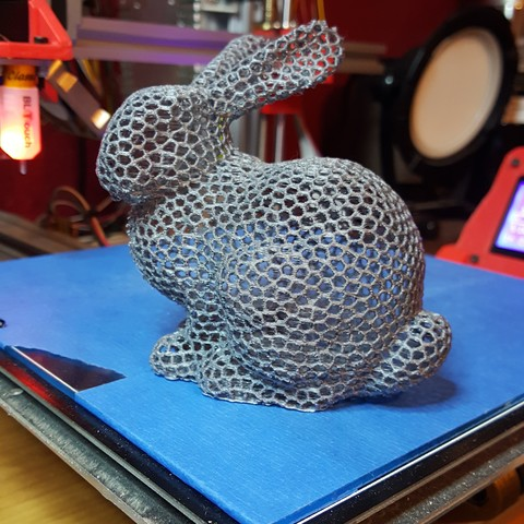 Free STL file Bunny Voronoi - with support. Rabbit Voronoi with support, hjnathan