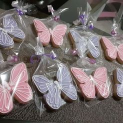 Download STL file Butterfly cookie cutter with stamp, mikeurriza2
