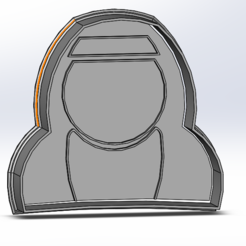 Download 3D printer designs Nun cookie cutter with stamp, mikeurriza2