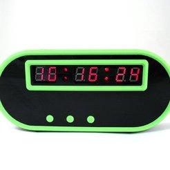 Télécharger modèle 3D gratuit C51 Horloge numérique 6 bits, TikiLuke