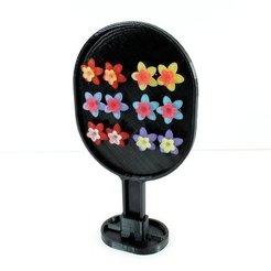 Télécharger modèle 3D gratuit Présentoir de photographie de bijoux de boucle d'oreille à montage sur goujon, TikiLuke