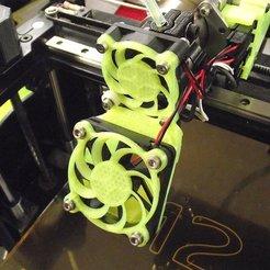 Impresiones 3D gratis Cubiertas de ventilador de refrigeración en espiral de 40 mm y 50 mm, TikiLuke
