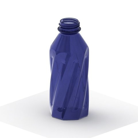 Descargar STL gratis Botella simple retorcida con roscas 2, TikiLuke