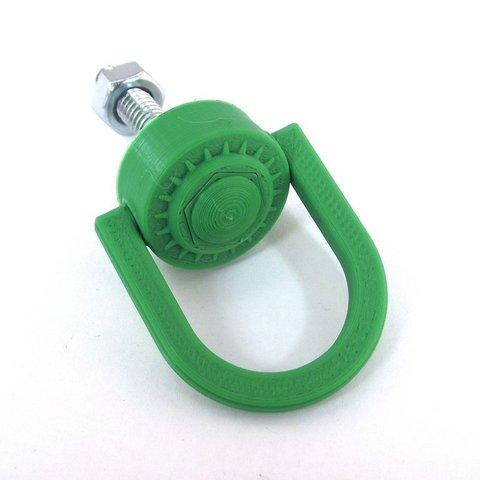 Download free 3D printer model Movable D-Ring Hanger for 1/4-20 Hex Head Bolt, TikiLuke