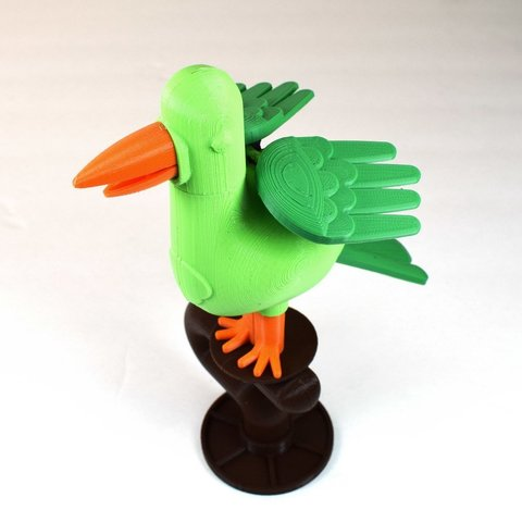 Free 3D print files Flapping Bird Toy, TikiLuke