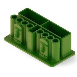 3dacf4f6f6124f8f819f8538ee77cbbf_display_large.JPG Download free STL file Two Tiki Desk Organizer • 3D printing design, TikiLuke