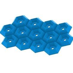 Télécharger fichier impression 3D gratuit Porte-savon à motif hexagonal, TikiLuke