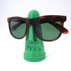 Download free STL file Tiki Sunglass Holder • Object to 3D print, TikiLuke