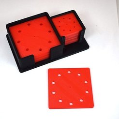 Free 3D printer files Circular Pattern LED Drilling Templates, TikiLuke
