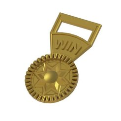 Download free STL Star Medal, TikiLuke
