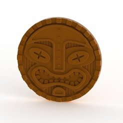 Download free 3D print files Tiki Coaster, TikiLuke