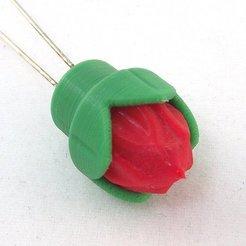 Imprimir en 3D gratis Tapa flor pequeña para LEDS de 5mm, TikiLuke
