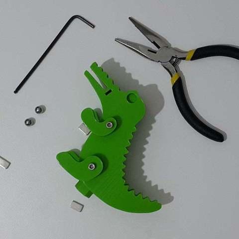 a3d2dbec905f480e7930e731c5d5bf20_display_large.jpg Télécharger fichier STL gratuit Crocodile Prusa Edition Crocodile • Objet à imprimer en 3D, DK7