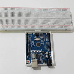 Free 3D model Arduino Uno&breadboard compartment with dovetail, DK7
