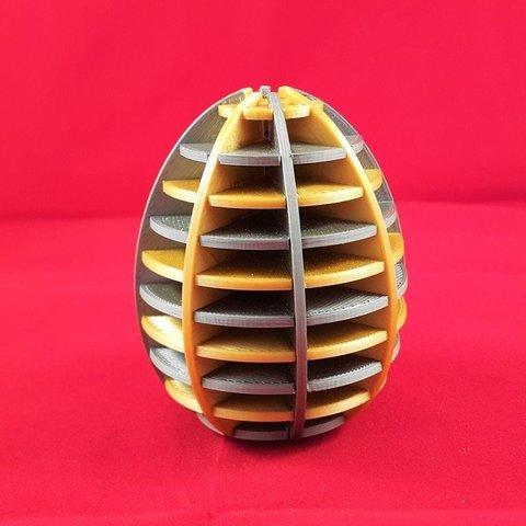 Free 3D printer designs Egg sliced, DK7