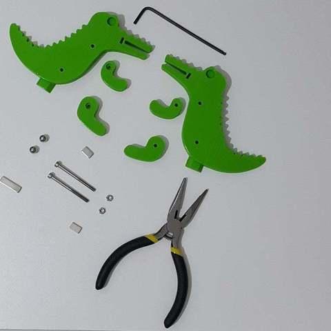 222de504f27f754233c53502bf49d1be_display_large.jpg Télécharger fichier STL gratuit Crocodile Prusa Edition Crocodile • Objet à imprimer en 3D, DK7