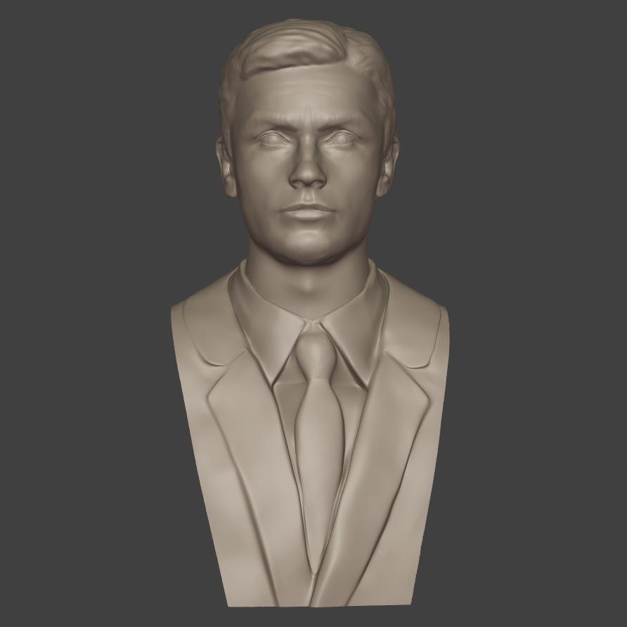 3.png Download 3MF file Alain Delon • 3D print object, DK7