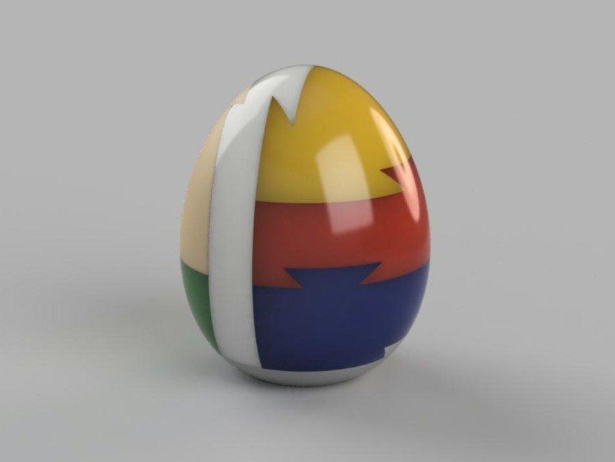 b43055eece1fc8d2b7b2e10ad4672d2d_display_large.jpg Télécharger fichier STL gratuit Egg 3D puzzle • Design pour impression 3D, DK7