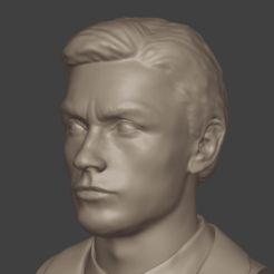 1.png Download 3MF file Alain Delon • 3D print object, DK7
