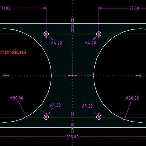 69ae09c5174f36fe967ecd1e7eb442ad_display_large.jpg Download free STL file Carbon filter adaptor for Flashforge Dreamer • 3D printer design, DK7