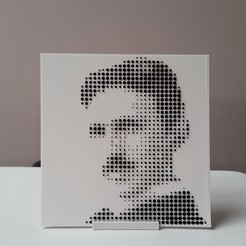 Download free 3D printing files Tesla's halftone picture, DK7