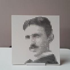 T3.jpg Télécharger fichier STL gratuit L'image en demi-teintes de Tesla • Modèle à imprimer en 3D, DK7