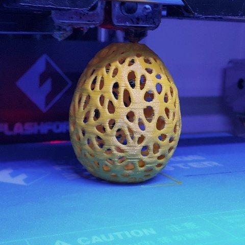Télécharger plan imprimante 3D gatuit Oeuf à la voronoï, DK7