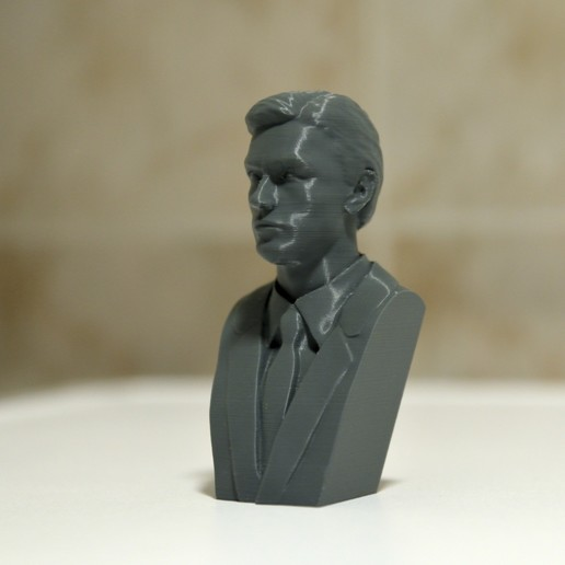 Pic.jpg Download 3MF file Alain Delon • 3D print object, DK7