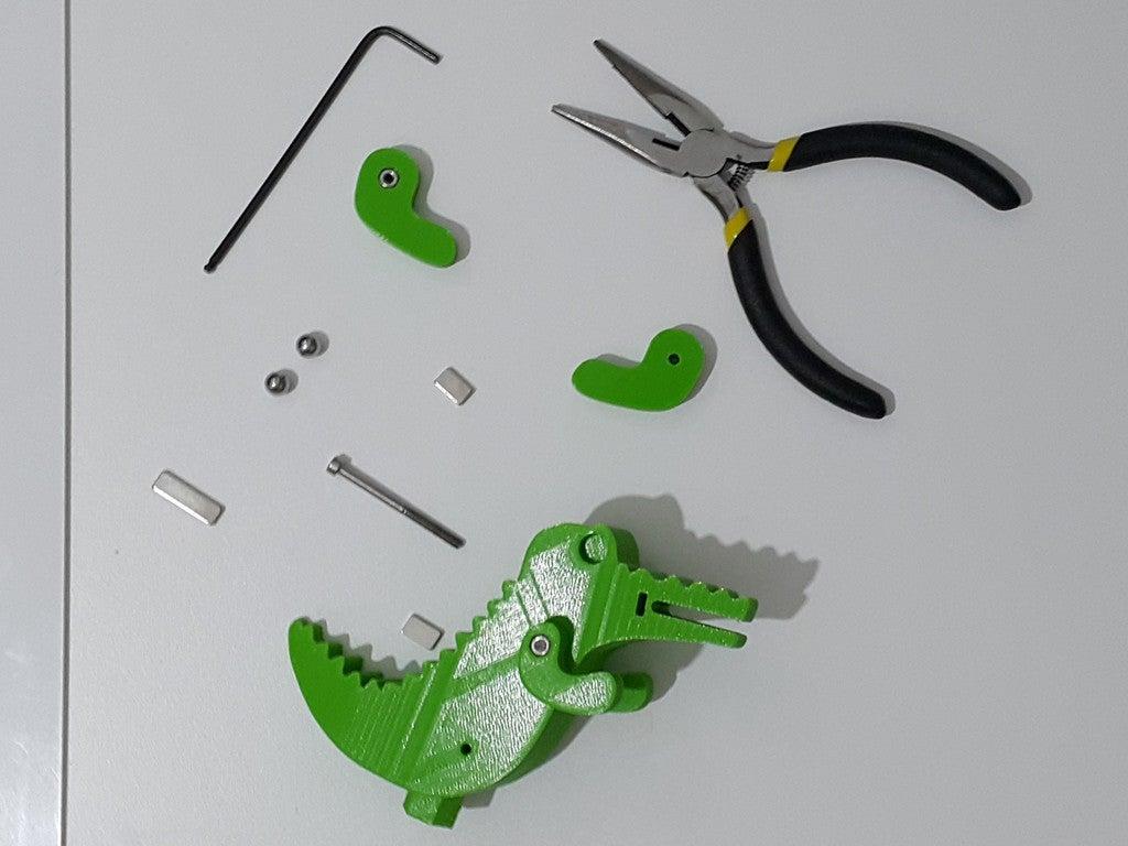 d2b43d3d2bea07ba18fb9323c2477b65_display_large.jpg Télécharger fichier STL gratuit Crocodile Prusa Edition Crocodile • Objet à imprimer en 3D, DK7