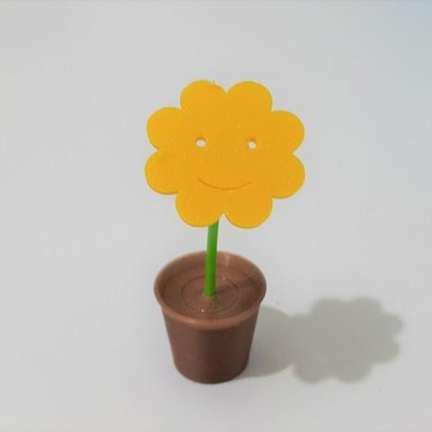 Télécharger fichier STL gratuit Une fleur dans le pot, DK7