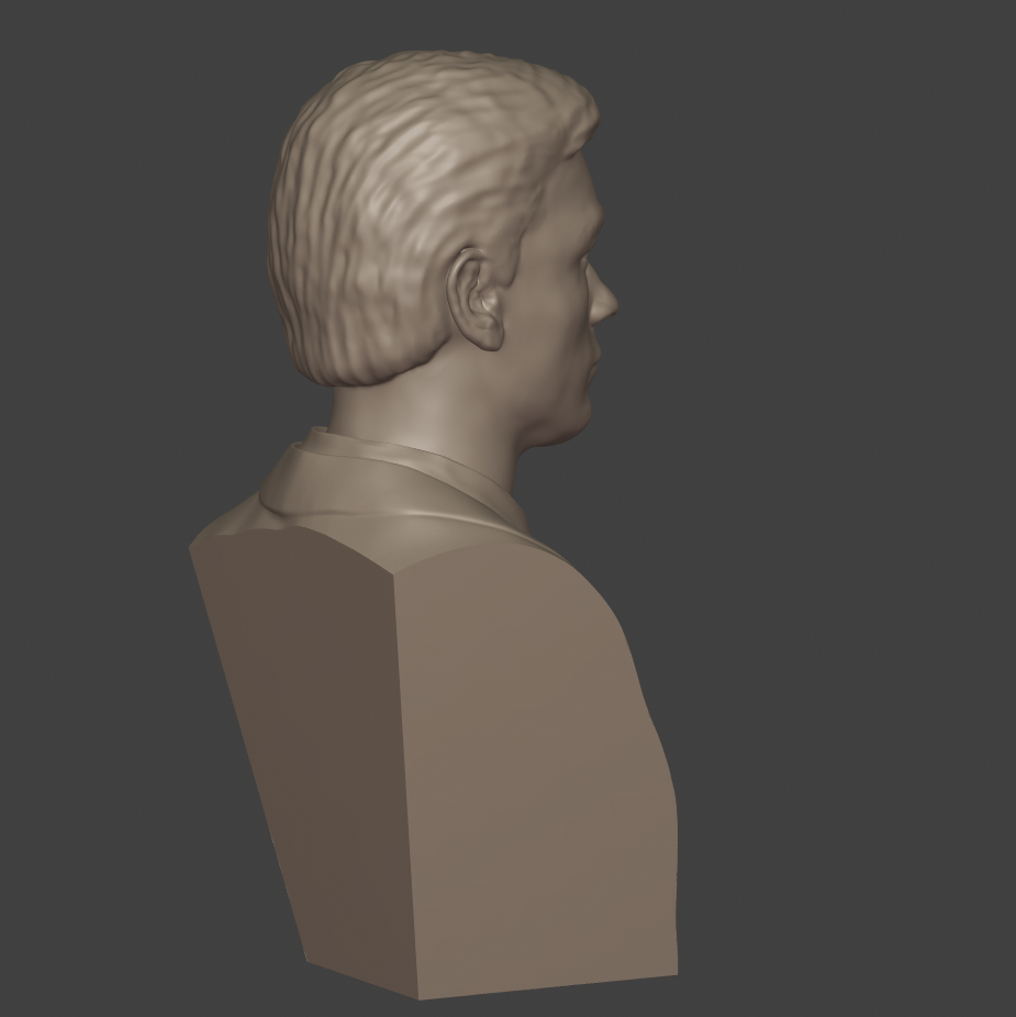 6.png Download 3MF file Alain Delon • 3D print object, DK7